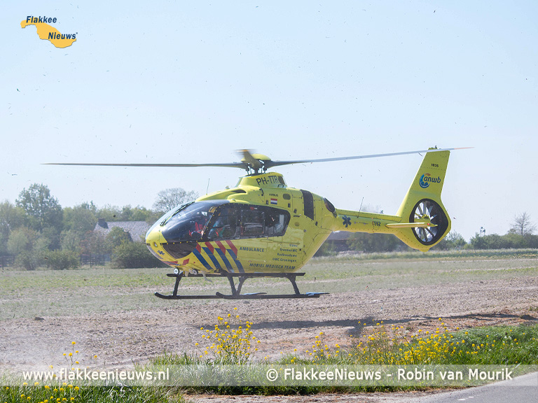 Foto behorende bij Traumaheli vliegt voor ongeval met quad