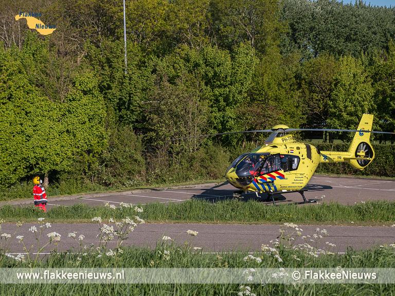 Foto behorende bij Traumaheli vliegt voor ongeval met snijwonden