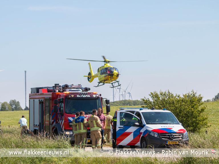 Foto behorende bij Motorrijder zwaargewond na aanrijding