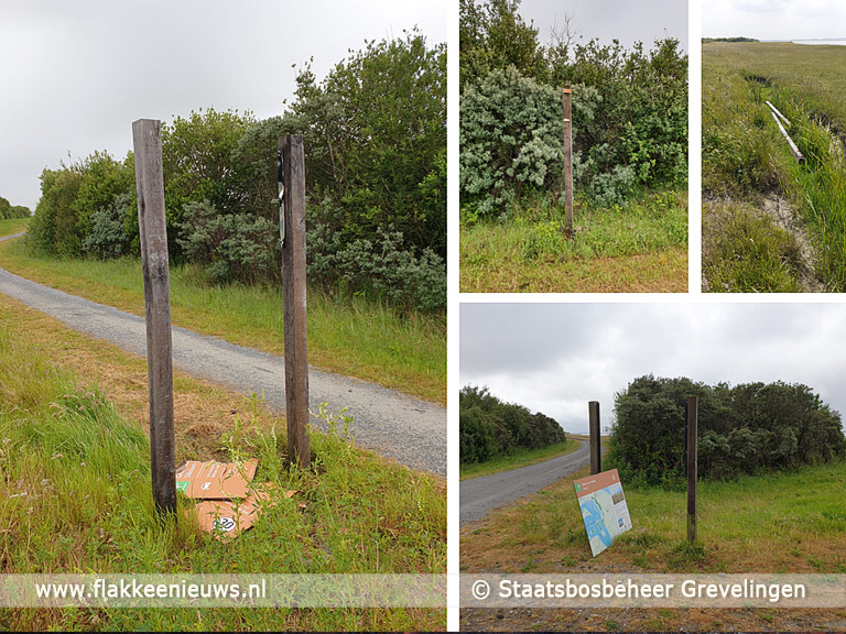 Foto behorende bij Panoramaweg Slikken van Flakkee wegens vandalisme gesloten