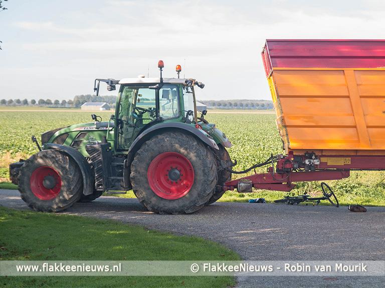Foto behorende bij Traumaheli vliegt voor ongeval met fietser in polder Melissant