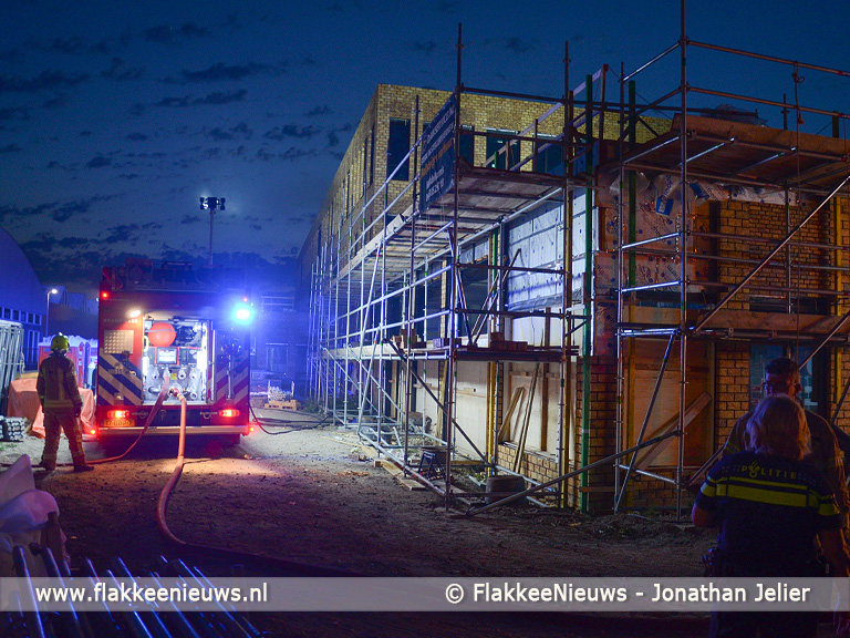 Foto behorende bij Brand in nieuwe Beroepscampus Middelharnis