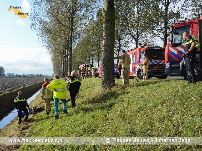 Foto behorende bij Hulpdiensten treffen geen slachtoffer aan bij ongeval