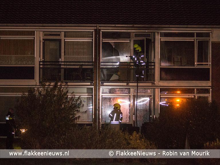 Foto behorende bij Kat gered bij brand tegen woning in Melissant