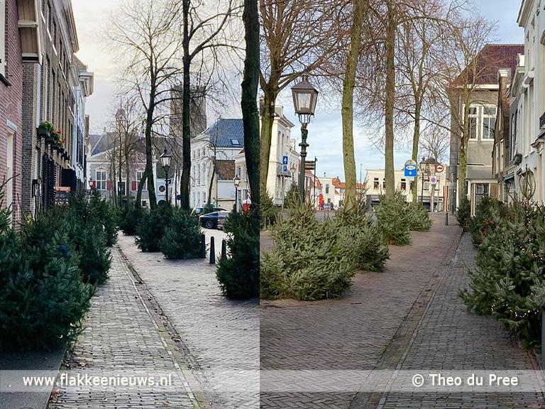 Foto behorende bij Dorpsbewoners Middelharnis zorgen voor kerstbomen op testlocatie GGD