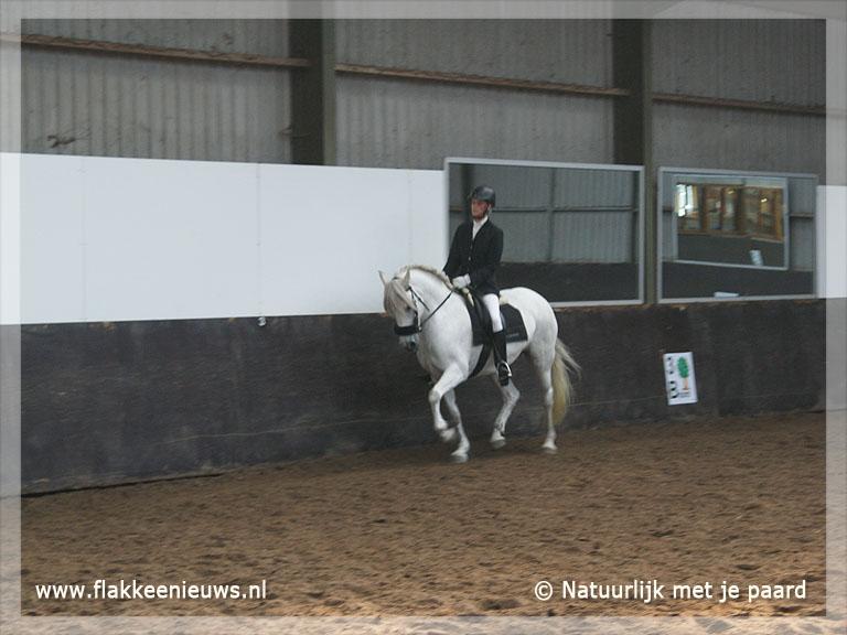 Foto behorende bij Flakkeese Nederlands kampioen Dressuur Bitloosrijden