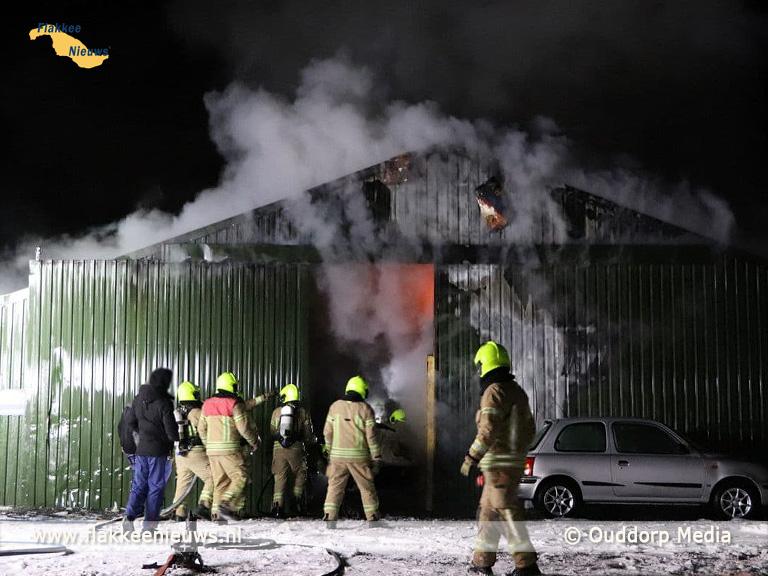 Foto behorende bij Brand in schuur Ouddorp