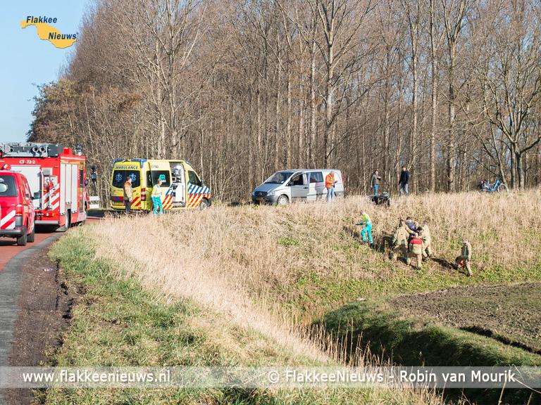 Foto behorende bij Brandweer rukt uit voor persoon te water nabij Dirksland