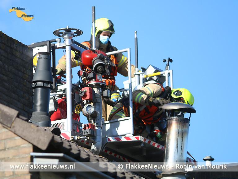 Foto behorende bij Brandweer rukt uit voor schoorsteenbrand Nieuwe-Tonge