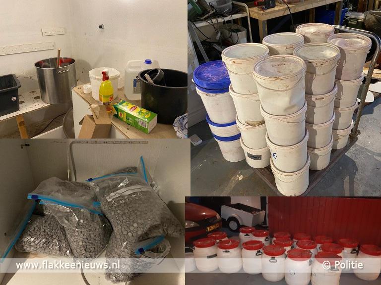 Foto behorende bij Drugslab ontdekt, twee verdachten aangehouden