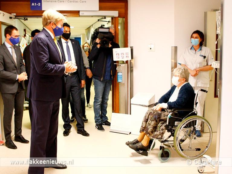 Foto behorende bij Koning bezoekt Het Van Weel-Bethesda Ziekenhuis