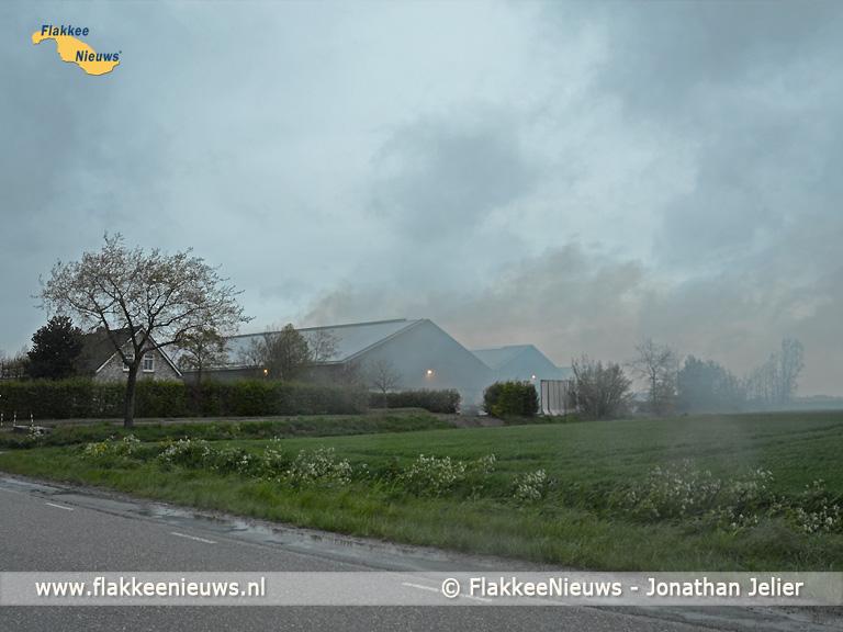 Foto behorende bij Inzet brandweer voor een grote brand in een schuur