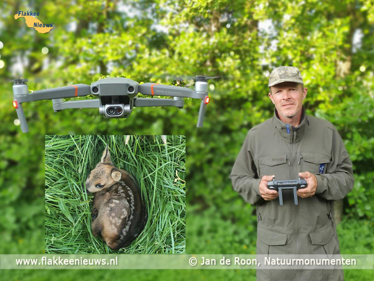Foto behorende bij Reekalfjes slachtoffer van maaiers, Jan Drone biedt uitkomst