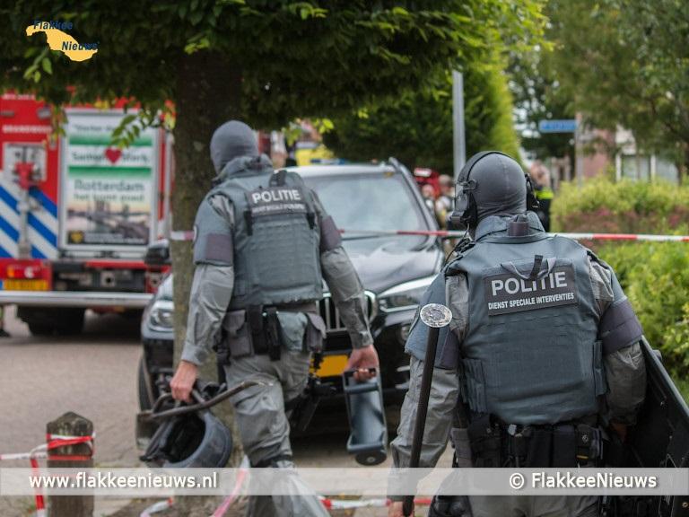 Foto behorende bij Straat in Dirksland ontruimd wegens explosiegevaar