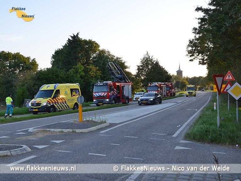 Foto behorende bij Grote hulpverleningsactie op Oudelandsedijk naar mogelijke drenkeling