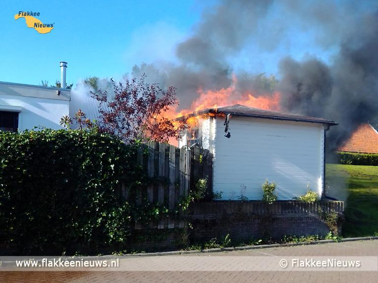 Foto behorende bij Brandweer uitgerukt naar middelbrand in Herkingen