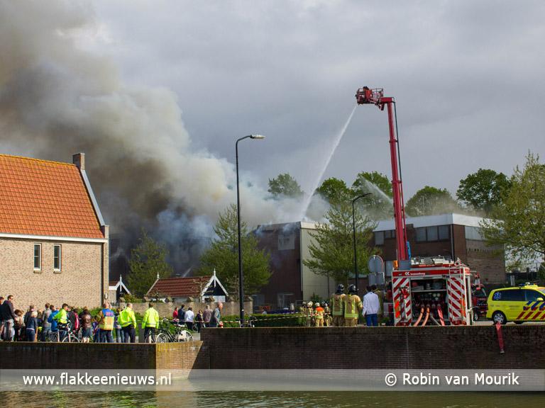 Foto behorende bij Winkelpand in brand op d