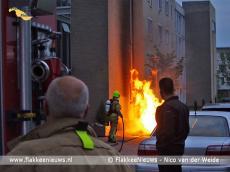 Foto behorende bij Wakker door brand bij de voordeur